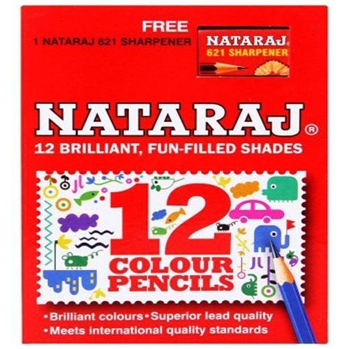 Multicolor Natraj 12 Half Size Colour Pencils