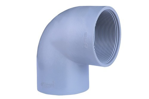 KAMNATH Grey Threaded PVC Elbow, for Plumbing Pipe & Agricultural