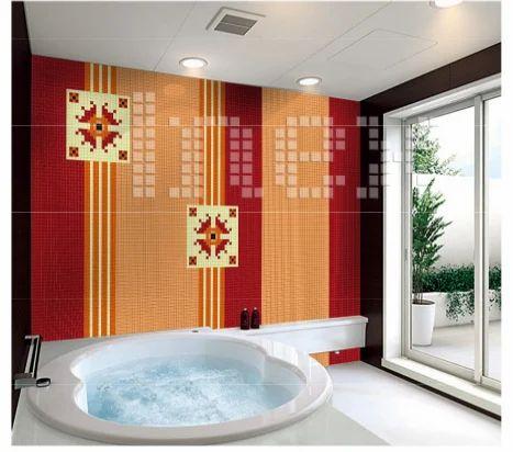 Bathroom Elegant Crystal Glass Mosaic Tile Inex Industries