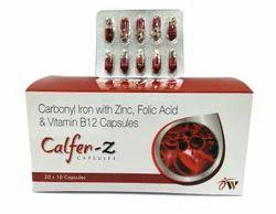 Carbonyl Iron, Zinc, Folic acid and Vitamin B12 Capsules