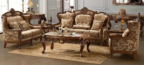 New Walnut Colour Wooden Sofa Set Rs 145000 Set Mbk Wood Carving