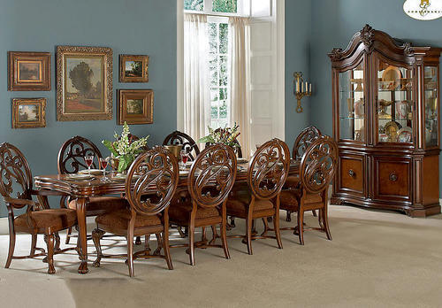 Natural Finish Dining Table Set