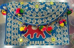 Blue Handmade Bags With Handle