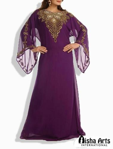 f2f9687876f3 Chiffon Embroidery Beautiful Kaftan, Rs 2500 /piece, Aisha Arts ...