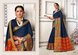 Hraj Linen Cotton with Weaving Border Sarees
