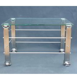 Glass Top Stainless Steel Office Table