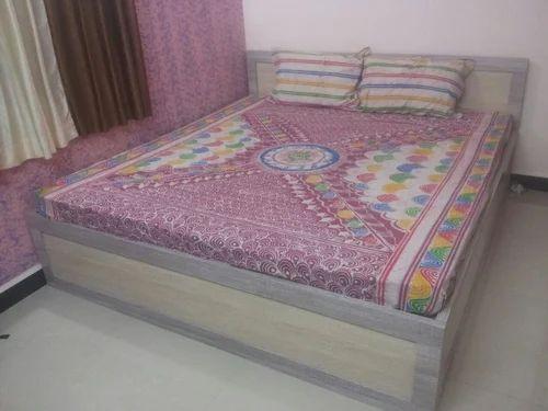 Cotton Hand Brush Batik Print Multi Color Double Bedsheet
