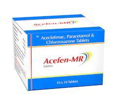 Aceclofenac, Paracetamol and Chlorzoxazone Tablets