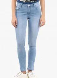 Light Wash Ladies Skinny Jeans