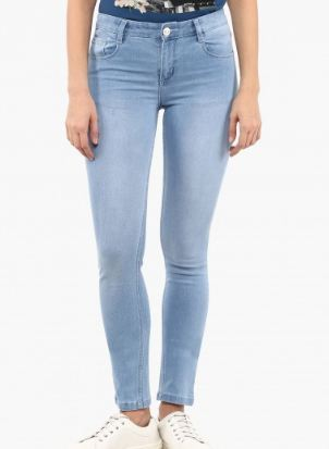 e2556a205ab Light Wash Ladies Skinny Jeans