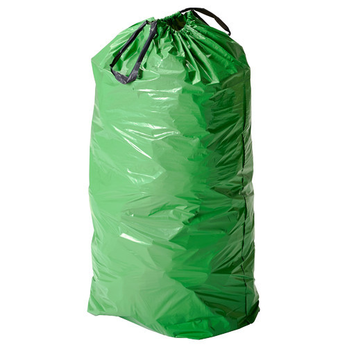 Plastic Printed Biodegradable Green Garbage Bags Size 27 36 Inch