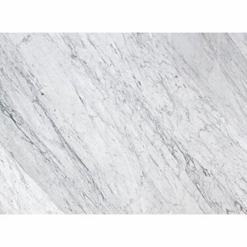 White Carrara Polished Marble Slab