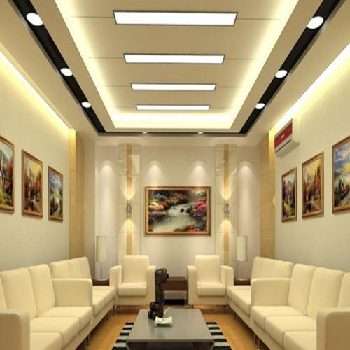 Commercial false ceiling at rs 30 square feet - Simple ceiling design for living room ...