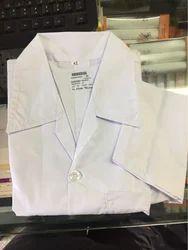 Plain Unisex White Colour Medical Apron, Size: 32-34-36-38-40