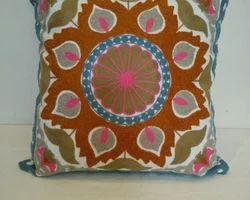 Printed Suzani Embroidery Cushion Cover