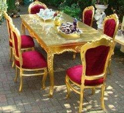 Gold Leafing Dining Table