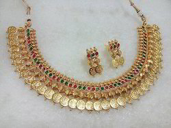 Tezshree Temple Coin Jewellery Set