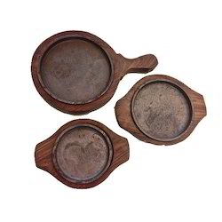 Brown Plain Wooden Sizzler Plate, For Home