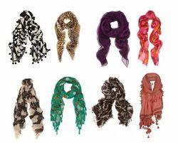 1-2 M Printed Cotton Scarves