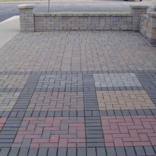Brick Flooring India: Concrete Floor Tiles, Size: Large (12 Inch X 12 Inch
