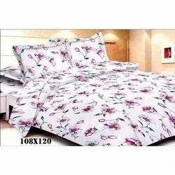 Flower Print Satin Bed Sheet