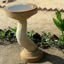 Stylish Yellow Stone Bird Bath