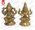 Lord Laxmi and Ganesh Sitting Statue