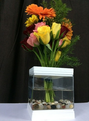 Transparent Acrylic Flower Vase Shape Rectangle Shaped Id 20220070973