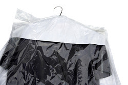Clear Polythene Garment Cover
