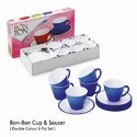Plastic Cup And Saucer Set