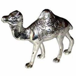 White Metal Camel Statue