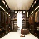 Wooden 5 Shelves Luxury Wardrobe