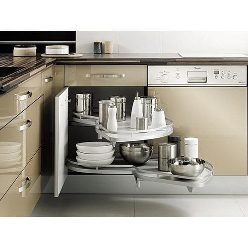 Kitchen Trolley Interior: Twing Swing Corner Unit Manufacturer From Pune