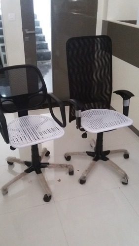 Wire Net Mesh Back Chair