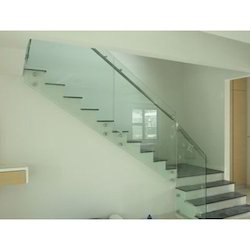 SS Glass Stair Railing