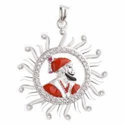 925 Silver Shivaji Pendant