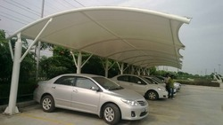 Membrane Tensile Single Car Parking Structures