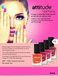 Amway Attitude Nail Paints, Pack Size: 8 Ml, for Personal
