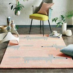 Tufted Loop- Pile Carpet / Wool Viscous Tufted Carpet, Rectangle, Size: 4 X 6 Feet