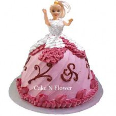 Barbie Doll Shape Cake Design 04 At Rs 1999 Piece Birthday Cake