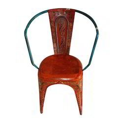 Hand Painted Iron Chair