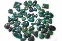 Chrysocolla Cabochon混合形状宝石