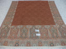 Fine Woolen Kanni Border With Heavy Embroidered Shawls