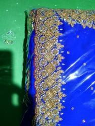 Georgette Hand Worked Saree With Blouse Piece