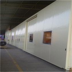 PUF Panel Partition with Sliding Door