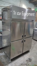 Indian Stainless Steel Cold Four Door Fridge, Electricity, for Industrial