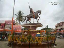 Golden Shivaji Maharaj Statue
