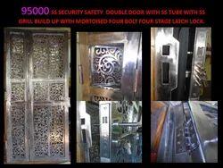 85k Double Pane SS Security Door