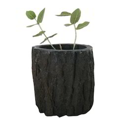 FRP/Fibre Glass Wooden Bark Planter