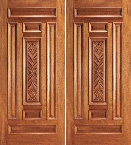 Teak Wood Traditional Front Door Anbusowmiya Wood Work Private